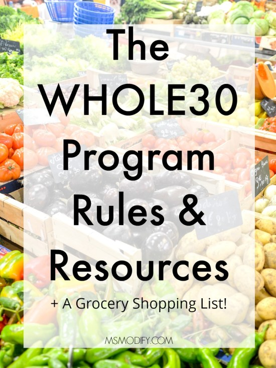 WHOLE30 Rules and resources