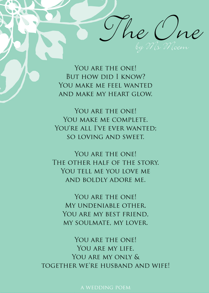 wedding poem archives page