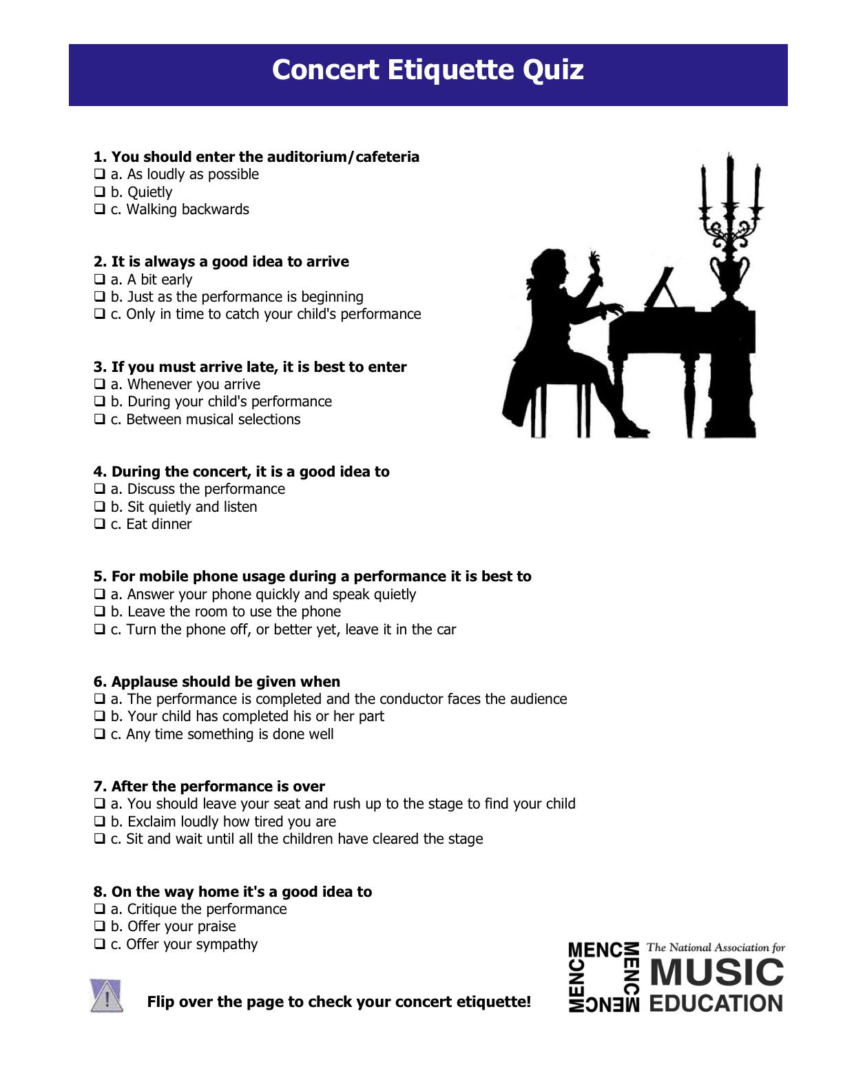 Concert Etiquette Rules Amp Quiz