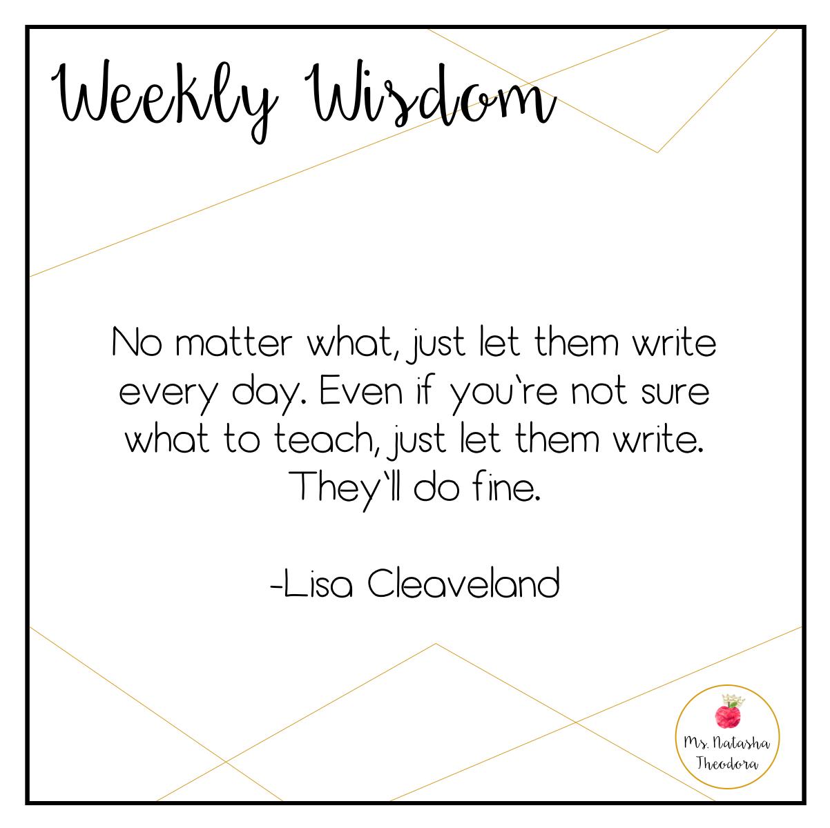 Weekly Wisdom