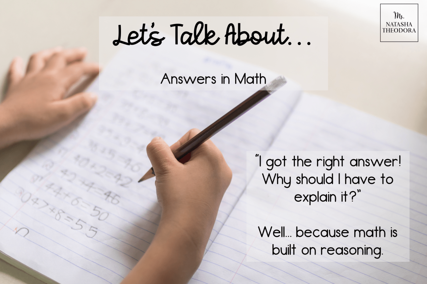 Let's Talk About Answers in Math