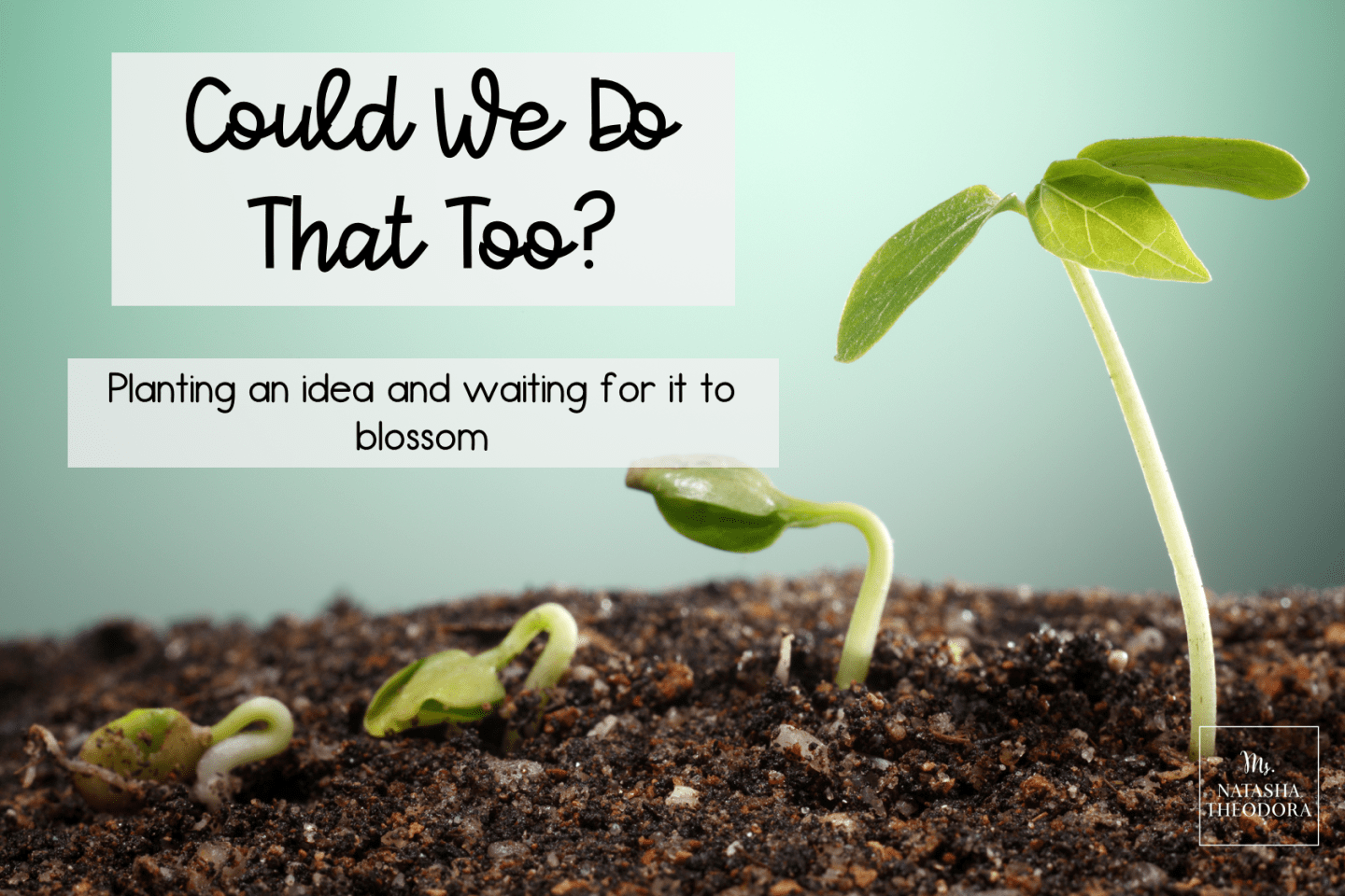 Could We Do That Too? Planting an Idea and Waiting For it to Blossom