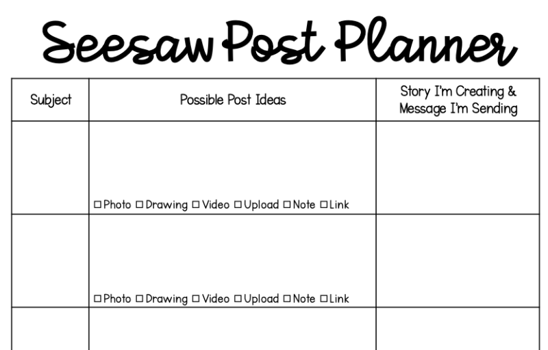 How to Plan Seesaw Posts