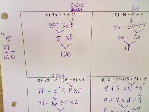 small resolution of Evaluating Expressions Answer Key - Welcome to 6th Grade Math!