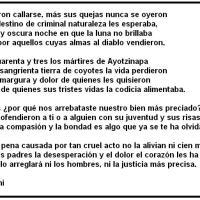 Poema a los 43 de Ayotzinapa