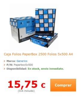 precio caja folios