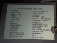 Llista amb les noves seus de la Marea Pensionista a Catalunya.