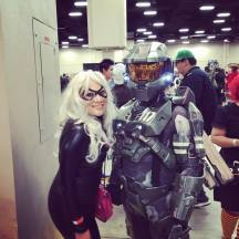 With my hero!! I love Spartan 117!