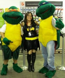 Me as Batgirl with TMNT
