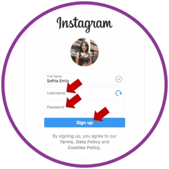 Create Instagram Account on PC