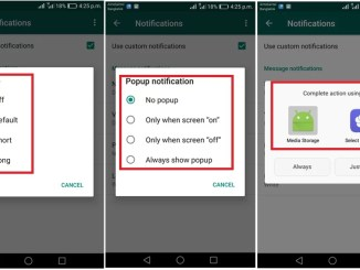 customize whatsapp notifications on android