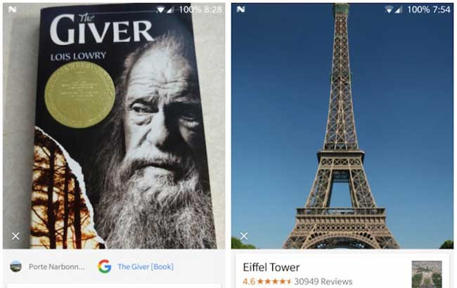 Google lens app: detect object by taking photos