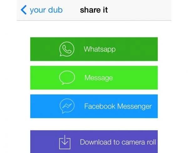 share dubsmash videos