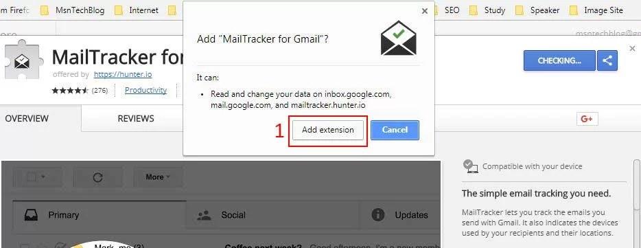 add mailtracker chrome extension