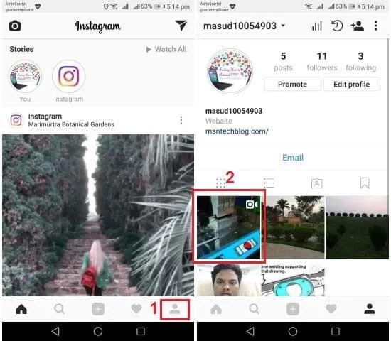 check views videos Instagram wall