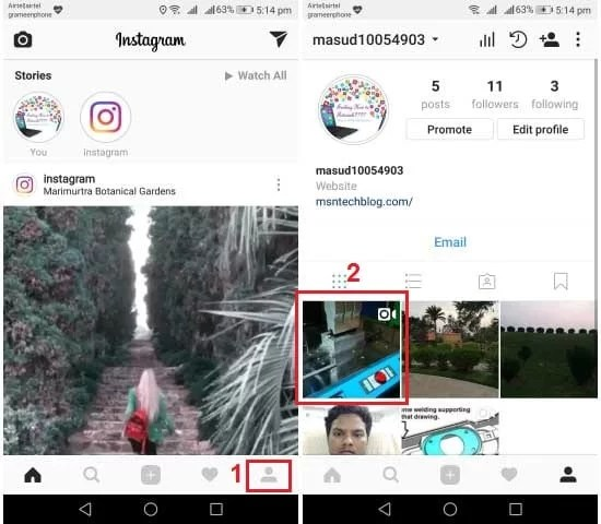 check views videos Instagram wall