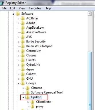 Chrome error: Administrator has disabled updates - 2 method