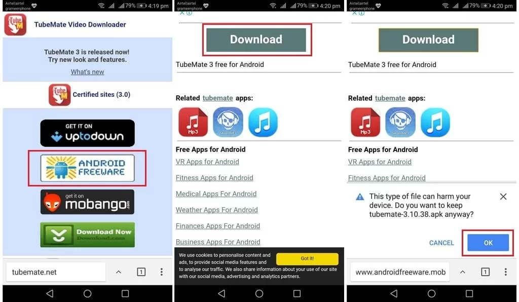 Download TubeMate Android Apps