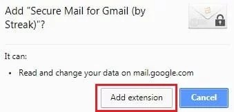 install secure mail gmail extension