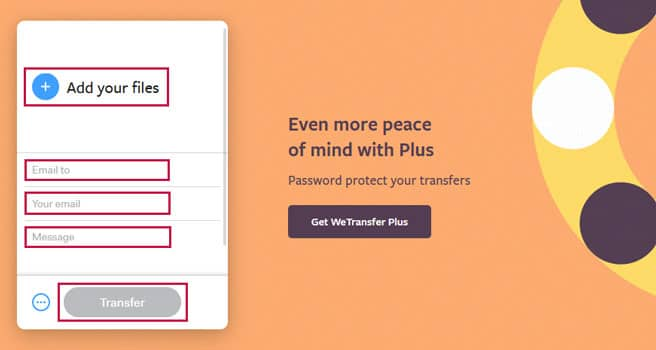 Send Files Via WeTransfer