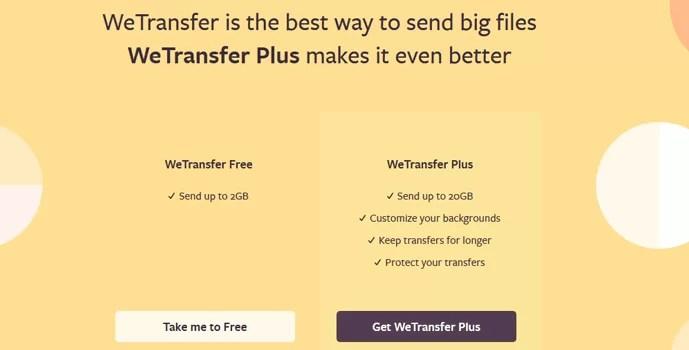 WeTransfer Free Vs WeTransfer Plus