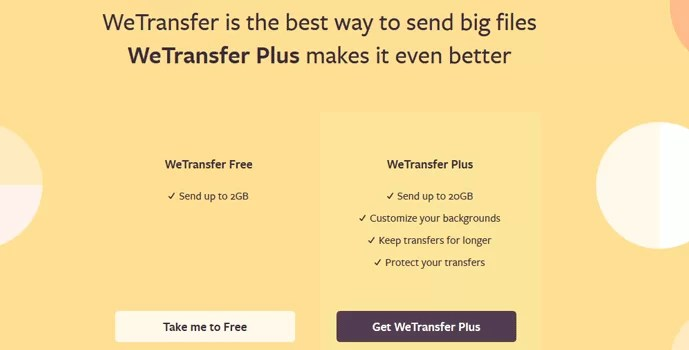 WeTransfer Free Vs WeTransfer Plus