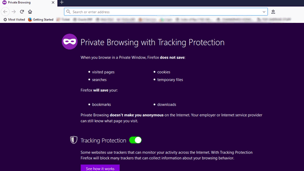 Firefox Incognito Window
