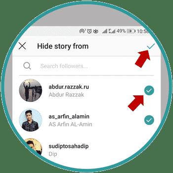 Hide Instagram Story From Friends