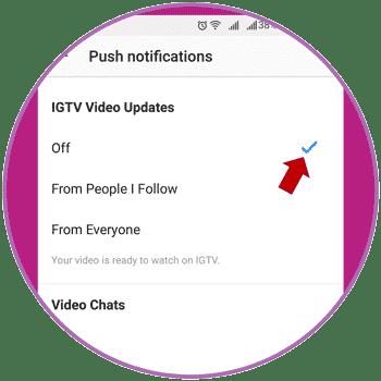 Stop IGTV Push Notification