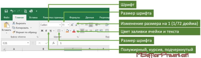 Настройка параметров шрифта в Excel
