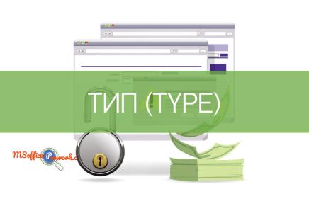 Функция ТИП (TYPE)