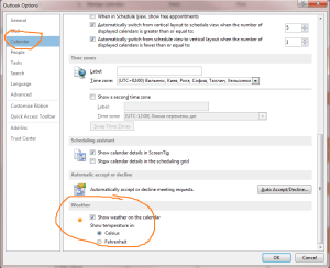 ms outlook 2013 options