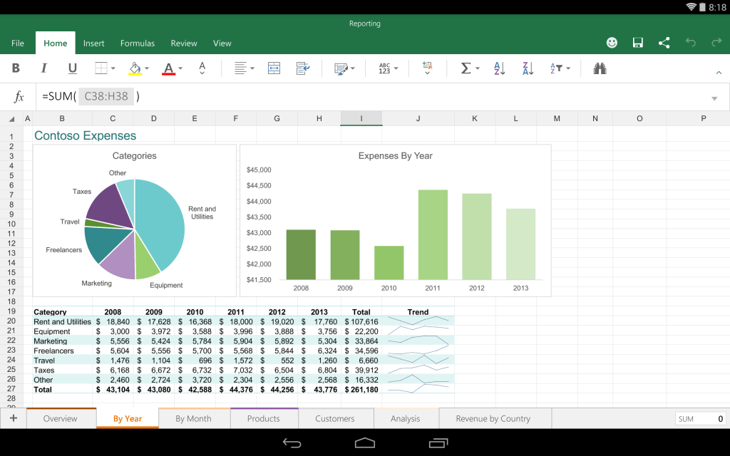 Excel для Android