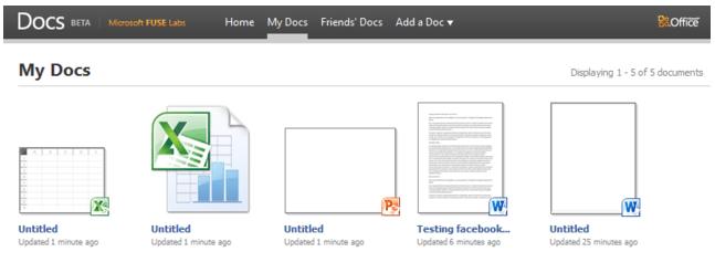 Docs.com в 2010 году