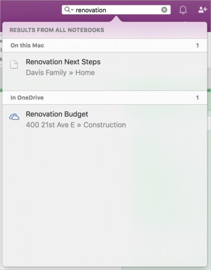 Поиск книг на OneDrive для iOS
