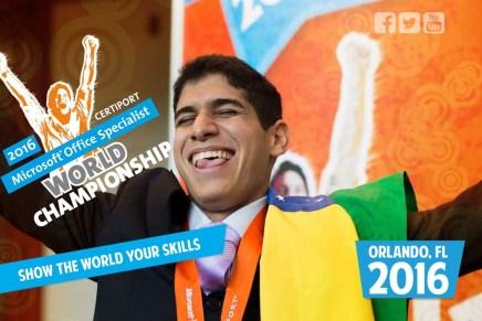 Чемпионат Microsoft Office Specialist 2016 в Орландо США 7-10 августа
