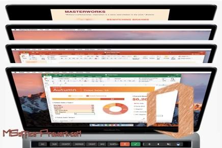 В Office для Mac добавлена поддержка сенсорной панели (Touch Bar)