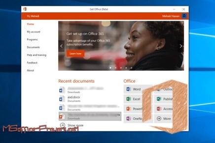 Microsoft представила приложение Office hub для Windows 10 Creators Update для внутреннего тестирования