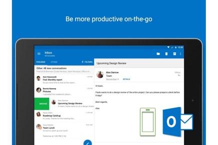 Приложение Outlook для Android обзавелось поддержкой @упоминаний