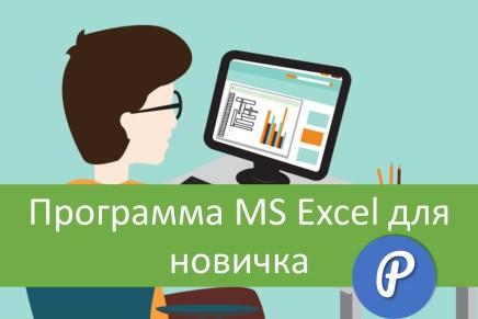 Доступна программа MS Excel для новичка