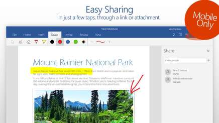 Последнее обновление Office (универсальных приложений) для Windows добавляет редактирование с помощью естественных жестов