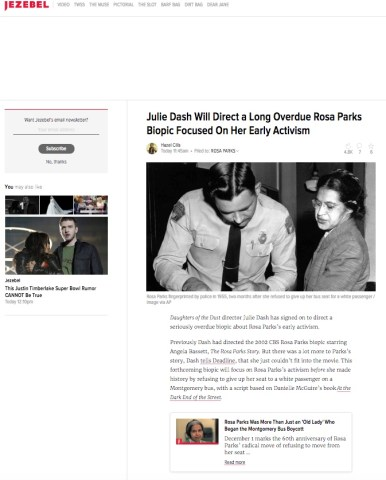 Jezebel featured an article surrounding the upcoming film