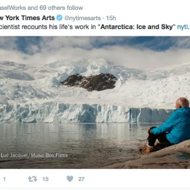 The New York Times; social media post, Antarctica Ice & Sky