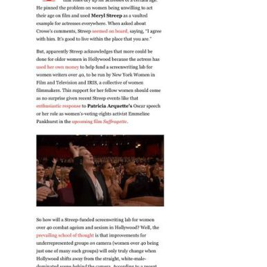 Vanity Fair featured news coverage on The Writers Lab