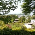 το Kyoto από ψηλά, μέσα από ένα απο τα μεγαλύτερα shrines