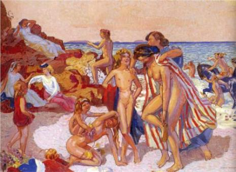 Maurice Denis - bacchus-and-ariadne-1907