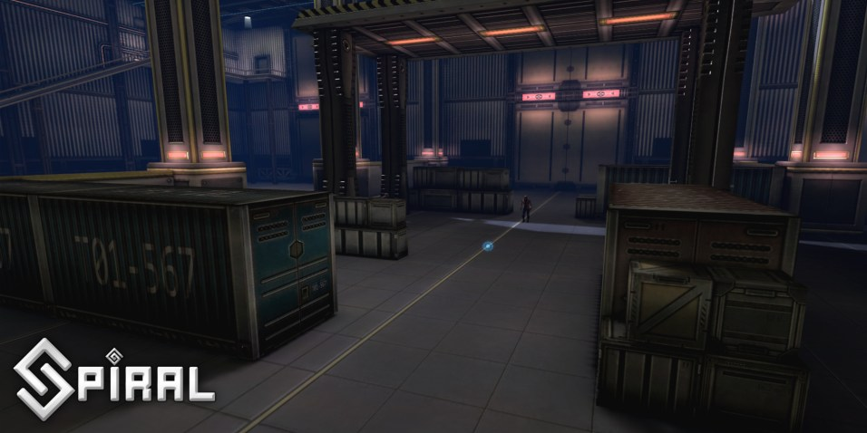 This scene was handed to me unfinished, my job was to populate the scene and finalise it, from the above screenshot the crates where created by me as well as the details found around the walls of the warehouse (upper top left of image) and Terminals.