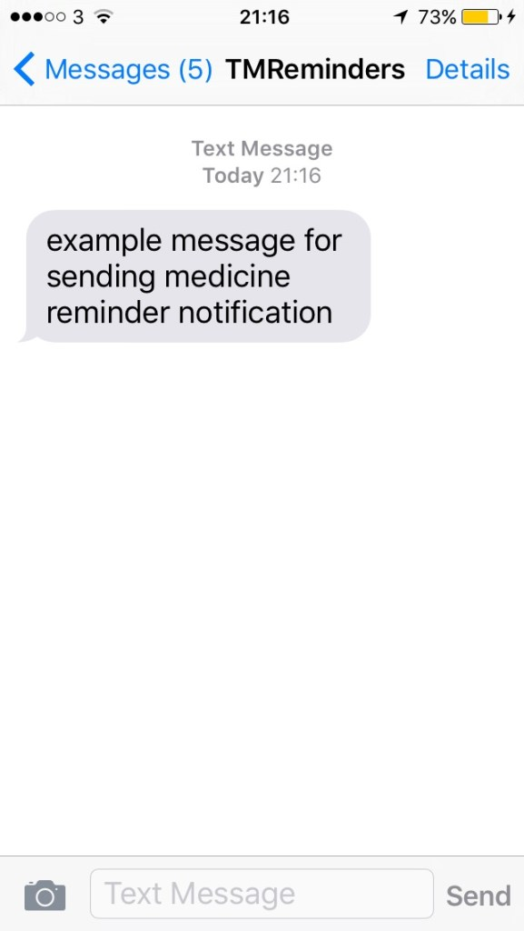 Text message page