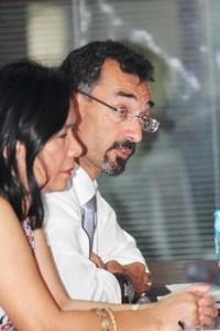 Dr Alvi with Mr. J Pons EU Representative