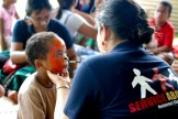 Wainibokasi Health Fair: Free face painting was provided for the kids by volunteers from Rotaract.